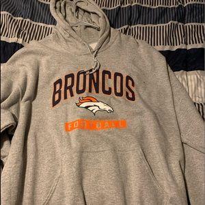 Used men's Denver Bronco's NFL hoodie
